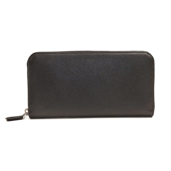 Buy & Consign Authentic Prada Saffiano Zip Around Wallet Nero at The Plush Posh