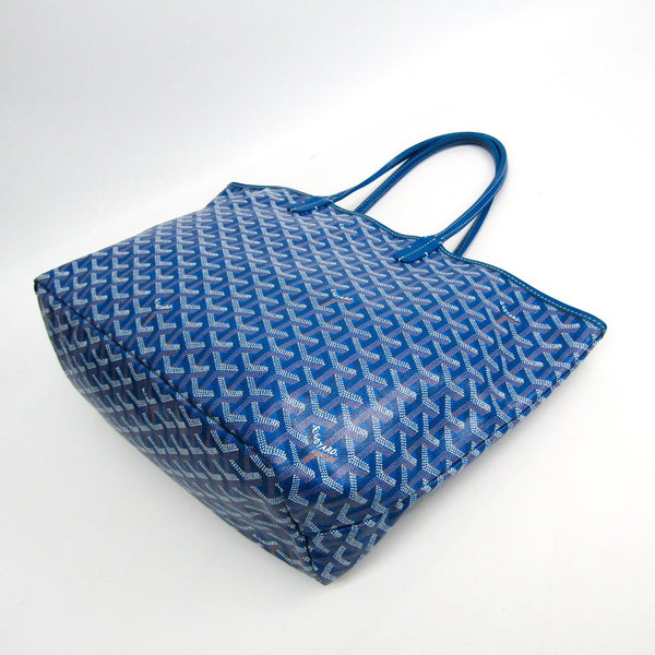 Buy & Consign Authentic Goyard Saint Louis PM Leather,Canvas Tote Bag Blue at The Plush Posh