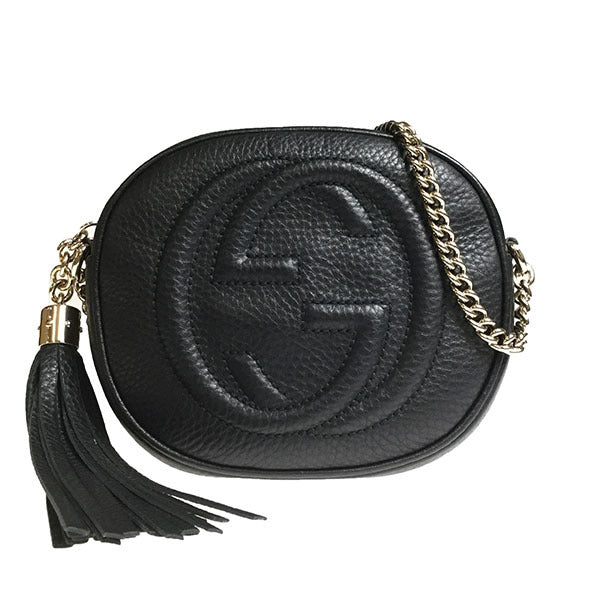 Buy & Consign Authentic Gucci Pebbled Calfskin Small Soho Disco Bag Black at The Plush Posh