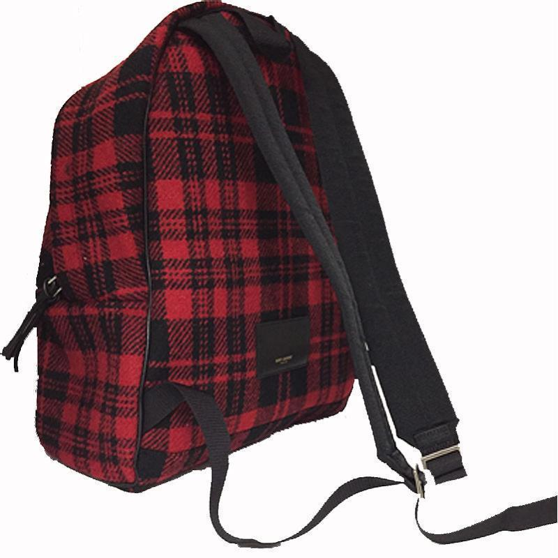 Buy & Consign Authentic Saint Laurent Red Check Back Pack at The Plush Posh