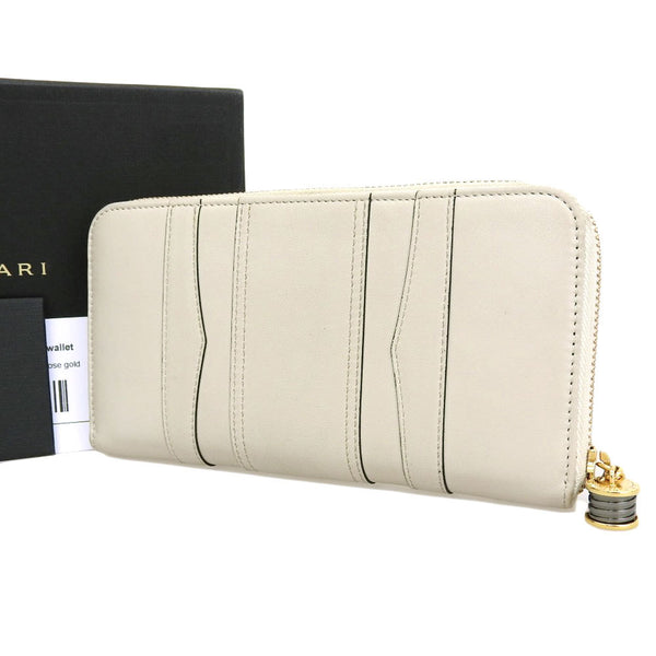 Buy & Consign Authentic Bvlgari Bzero1 Round Zipper Calf Leather Long Wallet at The Plush Posh