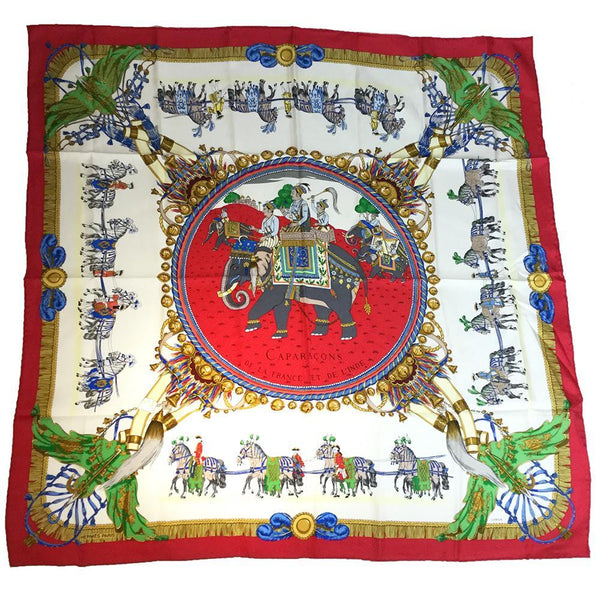Buy & Consign Authentic Hermes Caparaçons de la France et de L'Inde Silk Scarf at The Plush Posh