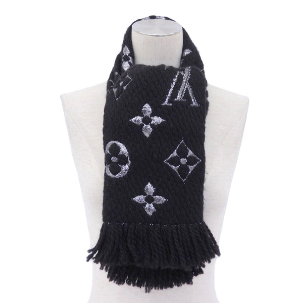 Buy & Consign Authentic Louis Vuitton Wool Silk Logomania Scarf Black at The Plush Posh