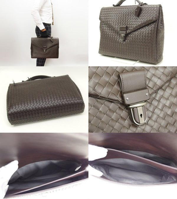Buy & Consign Authentic Bottega Veneta Intorechato Mens Business Bag at The Plush Posh