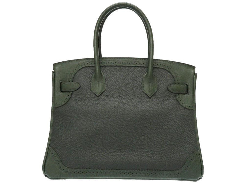 Buy & Consign Authentic Hermes Taurillon Clemence Birkin 30 Green at The Plush Posh