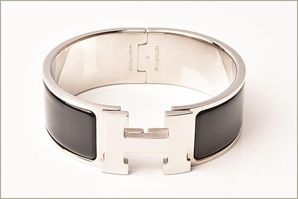 Buy & Consign Authentic Hermes Enamel Wide Clic Clac H Bracelet GM Black at The Plush Posh