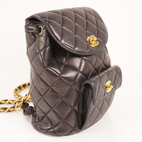 Buy & Consign Authentic Chanel Matelasse Chain Rucksack Women's Backpack Black at The Plush Posh