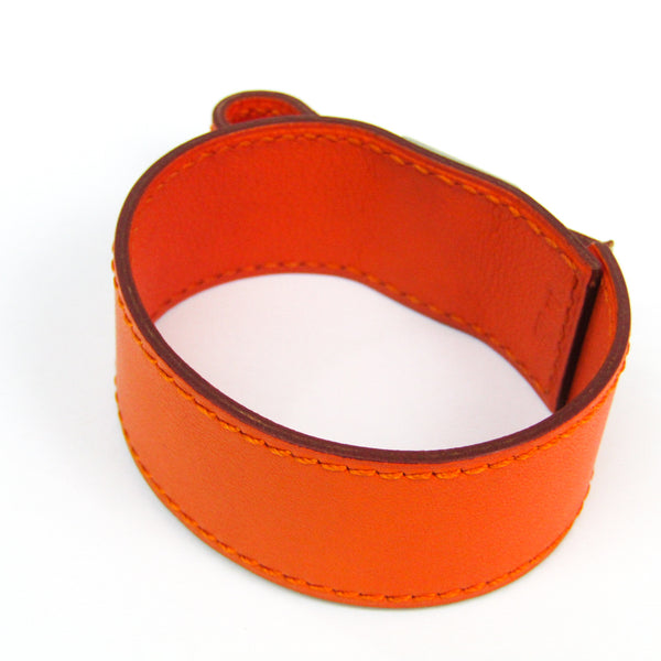 Hermes Artemis Leather Bracelet Orange