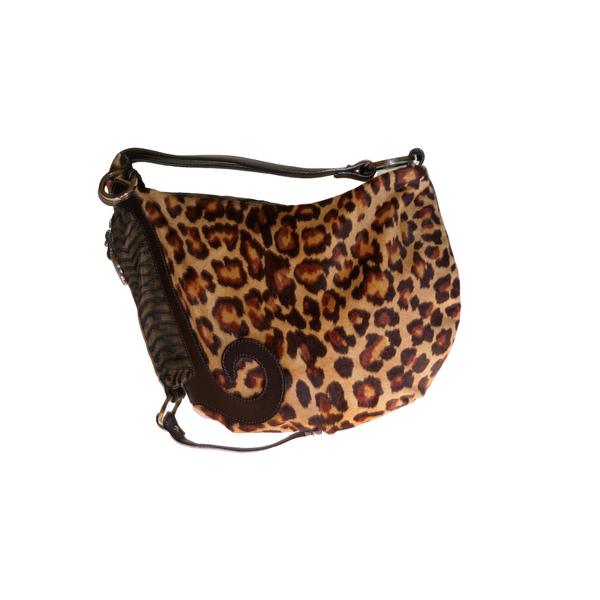 Fendi Animal Print Pony Hair Oyster Hobo - Limited Edition