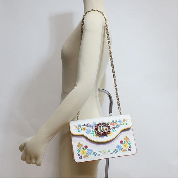 Buy & Consign Authentic Gucci Embroidered small shoulder bag at The Plush Posh