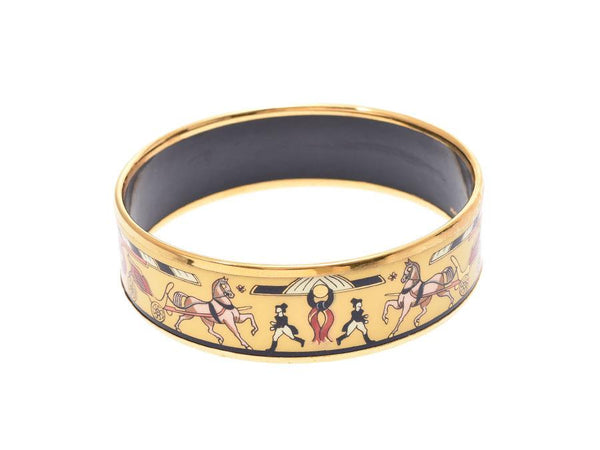Buy & Consign Authentic Hermes Enamel Printed Wide Bangle at The Plush Posh