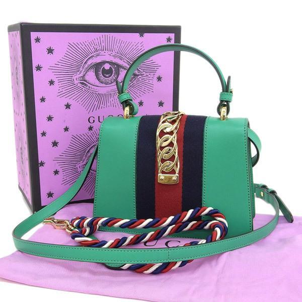 Buy & Consign Authentic Gucci Calfskin Mini Sylvie Shoulder Bag at The Plush Posh