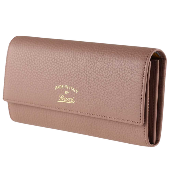 Gucci Pebbled Calfskin Wallet Light Pink