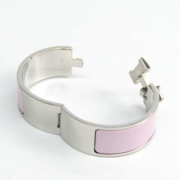 Buy & Consign Authentic Hermes Enamel Wide Clic Clac H Bracelet PM Rose at The Plush Posh