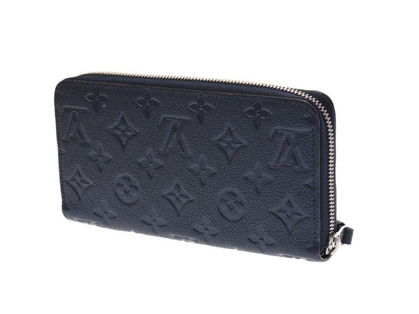 Buy & Consign Authentic Louis Vuitton Empreinte Zippy Wallet Navy Blue at The Plush Posh