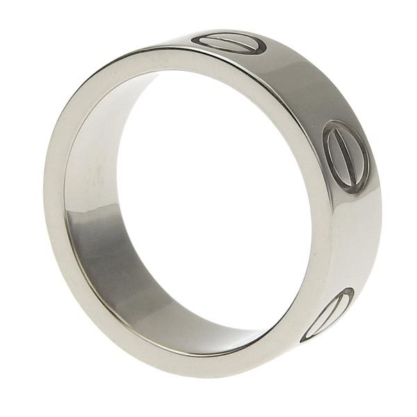 Cartier 18K White Gold LOVE Wedding Band Ring