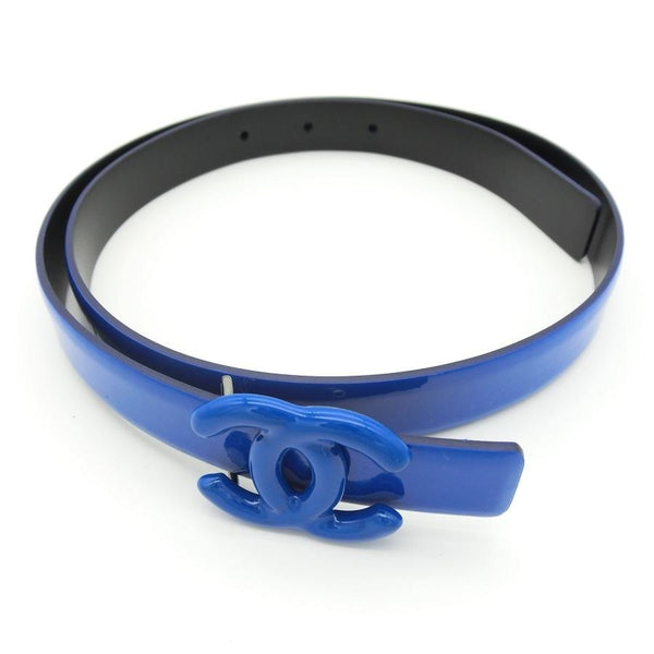Buy & Consign Authentic Chanel Women Enamel Leather Hi-Waist Belt Blue at The Plush Posh