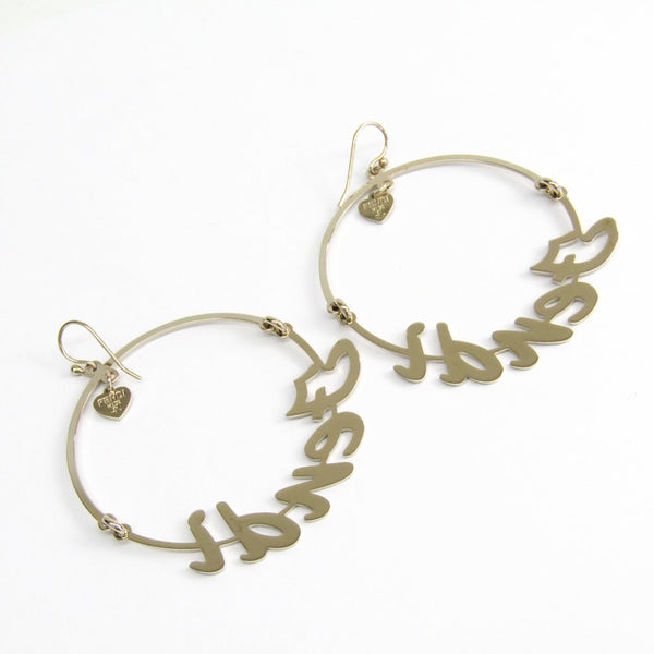 Buy & Consign Authentic Fendi ORECCHINI F.CORSIVO Metal Hoop Earrings Silver at The Plush Posh