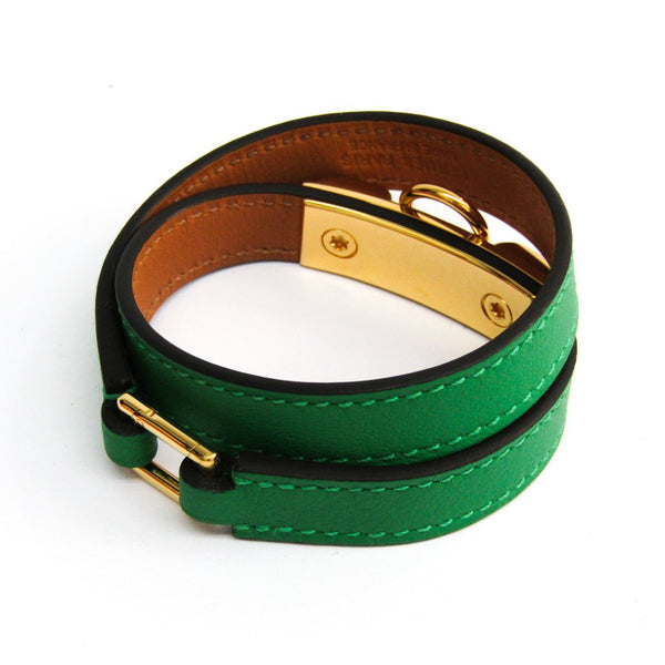 Buy & Consign Authentic Hermes Swift Rivale Double Tour Bracelet T2 Bamboo at The Plush Posh