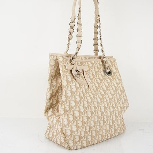 Buy & Consign Authentic Christian Dior Monogram Romantique Trotter Bag Ivory at The Plush Posh