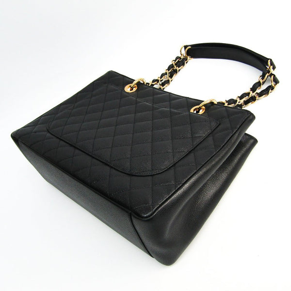 Buy & Consign Authentic Chanel Caviar Quilted Grand Shopping Tote GST Black at The Plush Posh