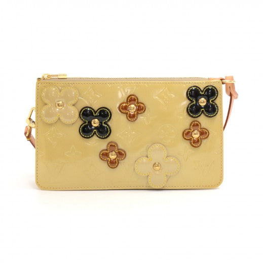 Buy & Consign Authentic Louis Vuitton Beige Vernis Leather Flower Lexington 2002 Limited Handbag at The Plush Posh