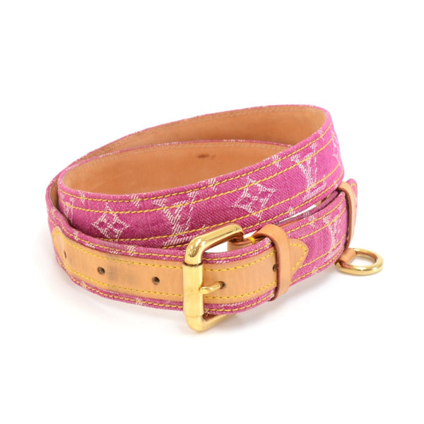 Buy & Consign Authentic Louis Vuitton Magenta Ceinture Monogram Denim Belt Size 90/36 at The Plush Posh