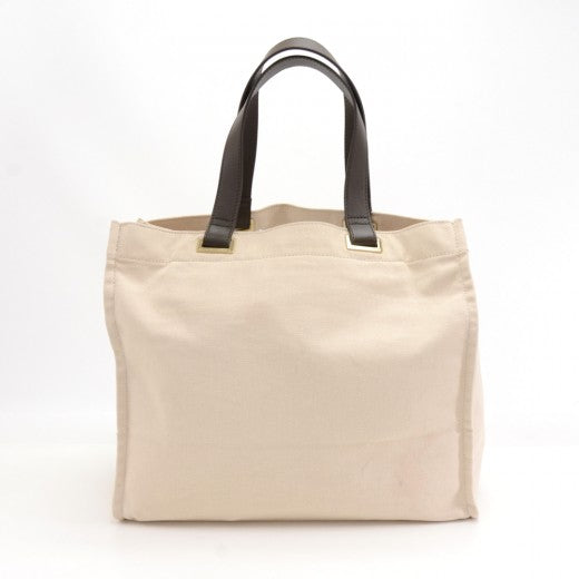 Anya Hindmarch Milan Fashionista White Canvas Tote Bag