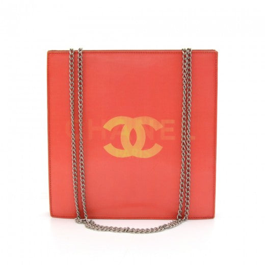 Buy & Consign Authentic Chanel Holographic Red Vinyl Chain Shoulder Bag at The Plush Posh