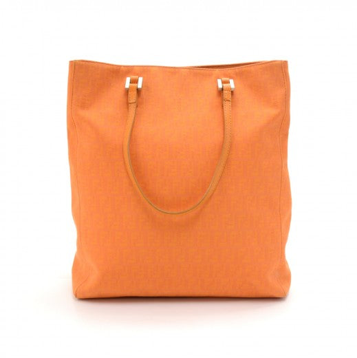 Buy & Consign Authentic Fendi Zucchino Monogram Orange Canvas x Leather Medium Tote Bag at The Plush Posh