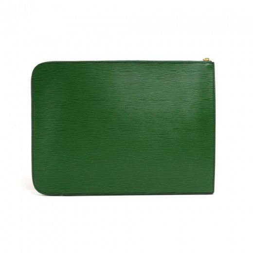 Louis Vuitton Poche Portfolio Green Epi Leather Document Holder