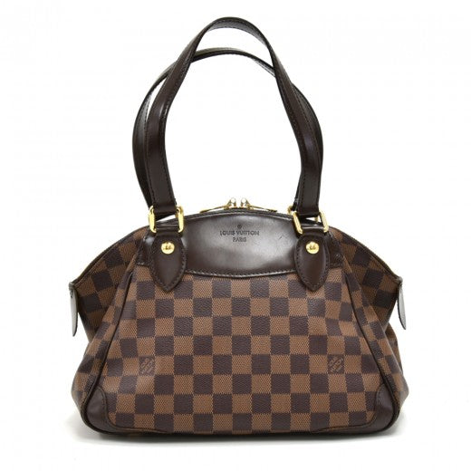 Louis Vuitton Verona PM Ebene Damier Canvas Handbag