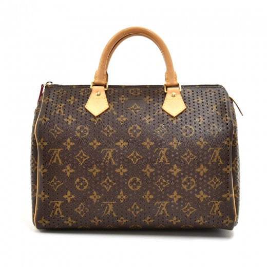 Louis Vuitton Monogram Perforated Speedy 30 Fuchsia - Limited Edition 2006
