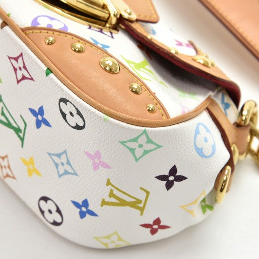 Louis Vuitton Marilyn White Multicolor Monogram Canvas Shoulder Bag