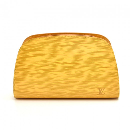 Louis Vuitton Dauphine GM Yellow Epi Leather Cosmetic Travel Pouch