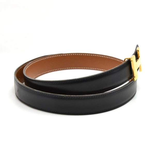 Buy & Consign Authentic Hermes Constance Black & Brown Reversible Belt 24 mm-Size 70 at The Plush Posh
