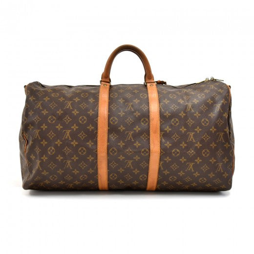 Buy & Consign Authentic Louis Vuitton Keepall 55 Bandouliere Monogram Canvas Duffel Travel Bag at The Plush Posh