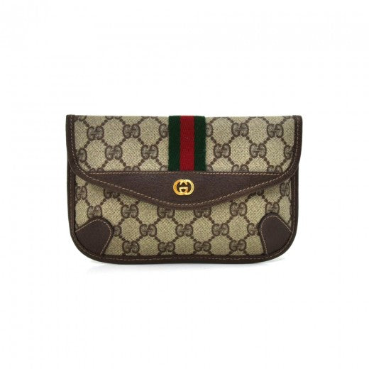 Gucci Vintage GG Supreme Coated Canvas Mini Clutch Bag-1980s