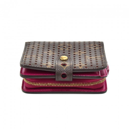 Louis Vuitton Perforated Monogram Fuchsia Compact Wallet - Limited Edition