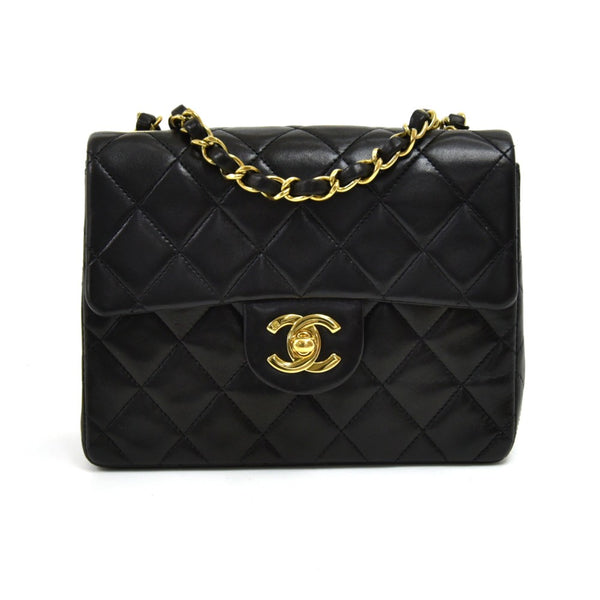 Buy & Consign Authentic Chanel Classic Flap Black Quilted Leather Mini Square Shoulder Bag at The Plush Posh