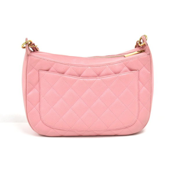 Buy & Consign Authentic Chanel Timeless Pink Quilted Caviar Leather CC Logo Chain Hobo Bag at The Plush Posh