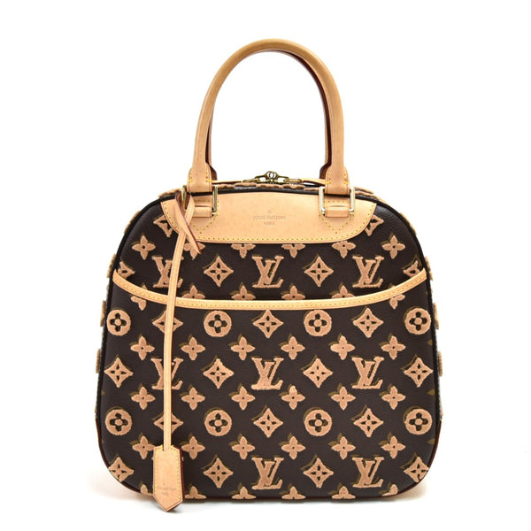 Buy & Consign Authentic Louis Vuitton Deauville Cube Monogram Tuffetage Canvas Handbag-Limited Ed at The Plush Posh