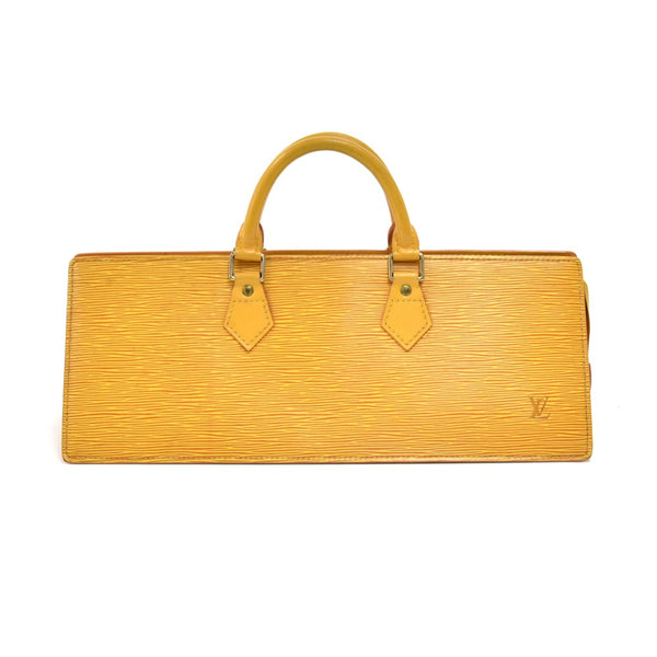 Buy & Consign Authentic Louis Vuitton Sac Triangle Yellow Epi Leather Handbag at The Plush Posh