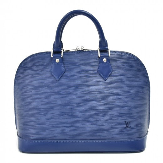 Louis Vuitton Alma Myrtille Blue Epi Leather Handbag