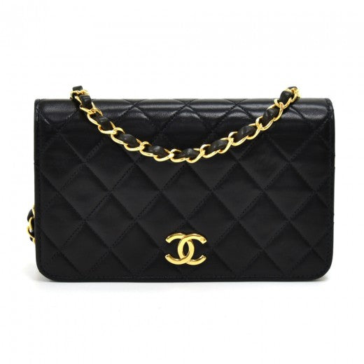 Chanel 7.5 Classic Black Quilted Leather Mini Flap Shoulder Bag