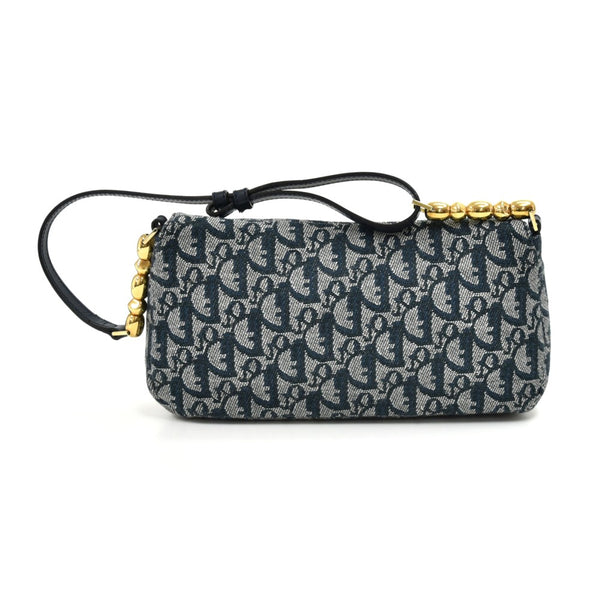 Buy & Consign Authentic Dior Malice Pearl Navy Monogram Canvas Flap Shoulder bag at The Plush Posh