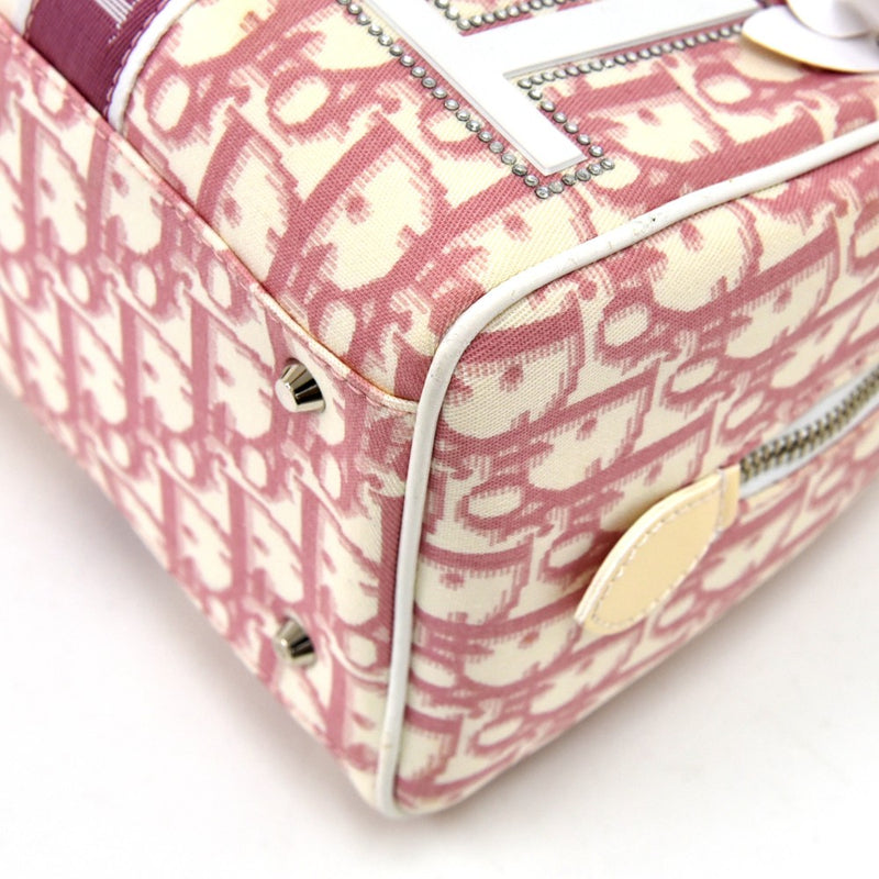 Buy & Consign Authentic Dior Pink & White Girly Oblique Canvas Trotter Boston Bag at The Plush Posh