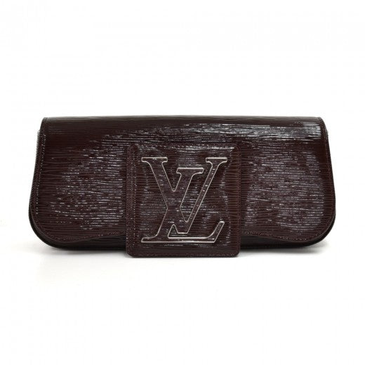 Louis Vuitton Sobe Electric Epi Brown Patent Leather Clutch