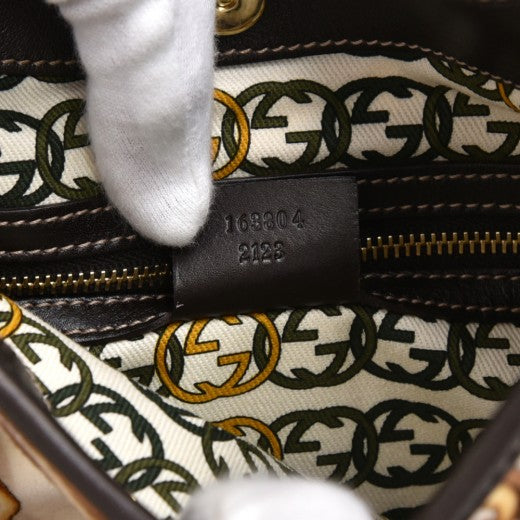 Gucci Bridle Bit 85th Anniversary Edition Patterned White Velvet Hobo Bag-Rare