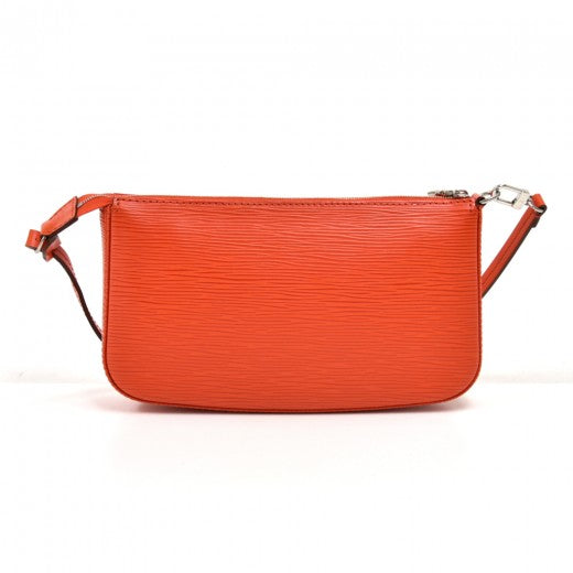 Louis Vuitton Pochette Accessoires Piment Orange Epi Leather Clutch Bag